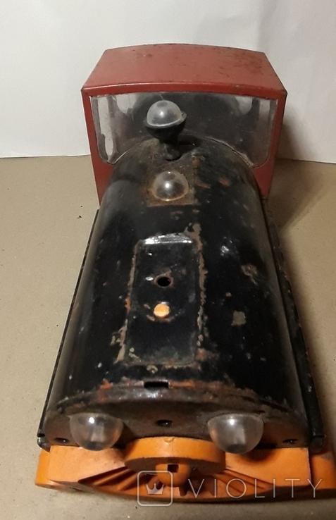 Железный Паровоз длина 27 см. СССР на реставрацию или запчасти, фото №5
