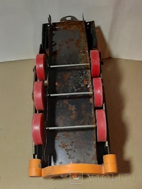 Железный Паровоз длина 27 см. СССР на реставрацию или запчасти, фото №9