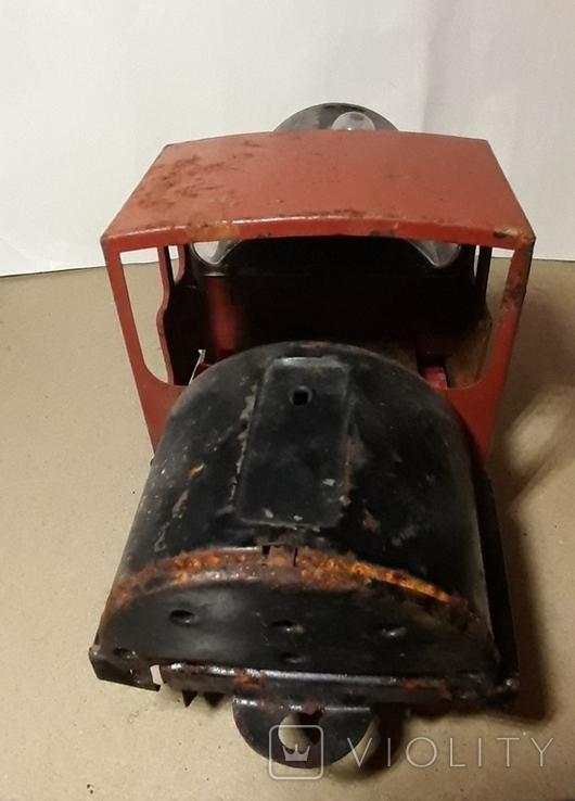 Железный Паровоз длина 27 см. СССР на реставрацию или запчасти, фото №10