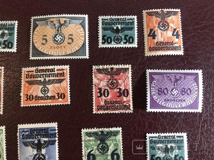 Марки рейха с надпечатками, фото №6