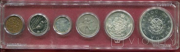 Канада 1964 Официальный набор серебро, фото №2