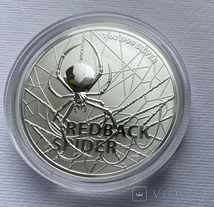 1-я монета в серии Красноспинный паук Австралия лот 2, фото №3