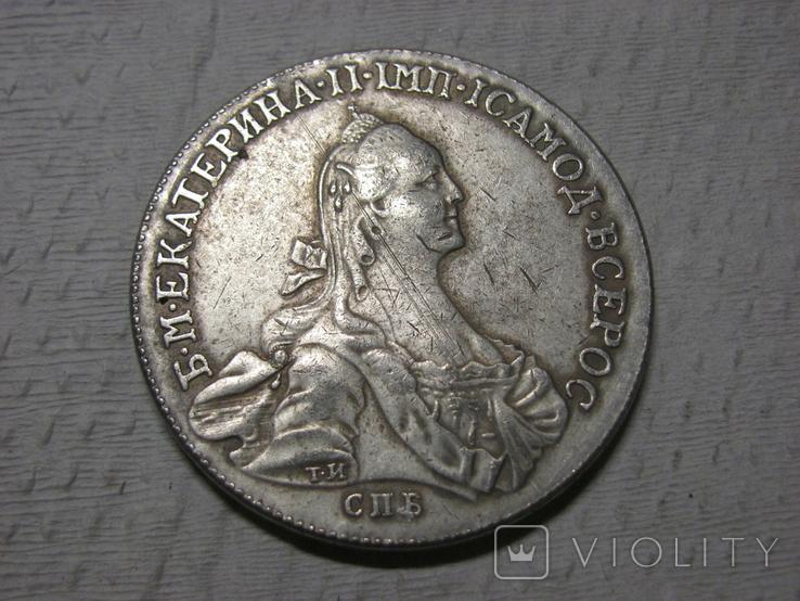 Рубль 1766 г копия, фото №2