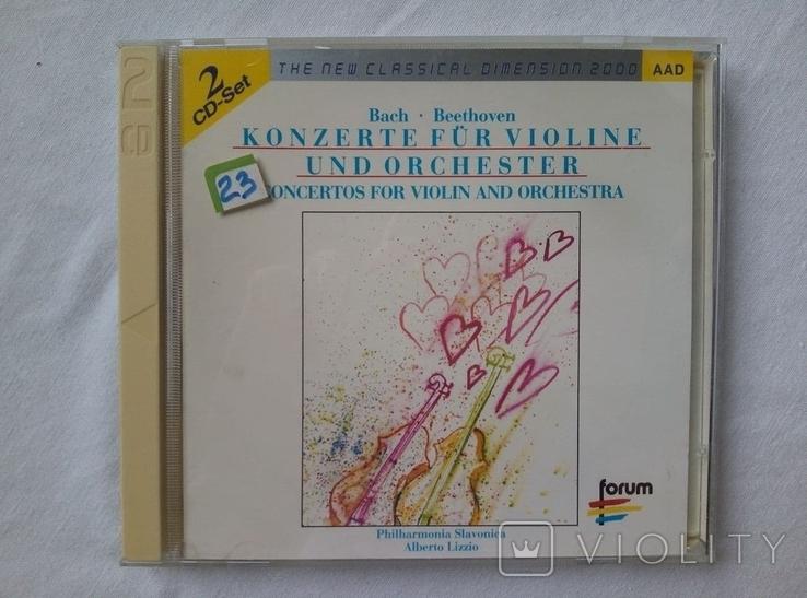 "Из Германии! 2CD""Золотой"" Bach Beethoven, Philharmonia Slavonica, Alberto Lizzio Konzerte, фото №2"