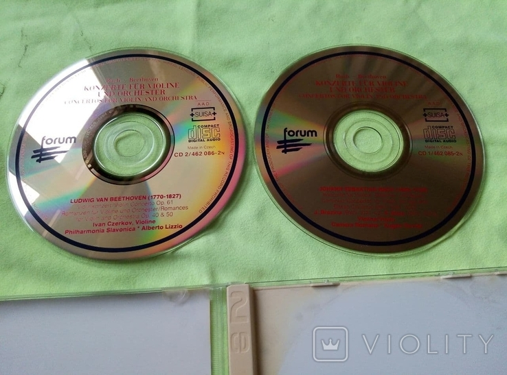 "Из Германии! 2CD""Золотой"" Bach Beethoven, Philharmonia Slavonica, Alberto Lizzio Konzerte, фото №5"