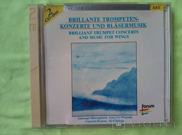 "Из Германии! 2CD ""Золотой"" Brilliant Trumpet Concerts and for wings, фото №2"