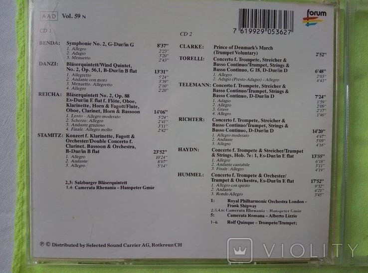 "Из Германии! 2CD ""Золотой"" Brilliant Trumpet Concerts and for wings, фото №4"