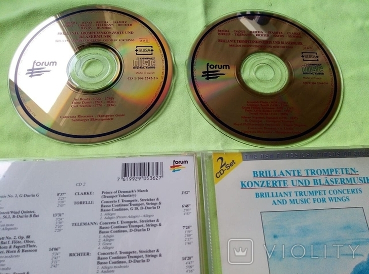 "Из Германии! 2CD ""Золотой"" Brilliant Trumpet Concerts and for wings, фото №8"