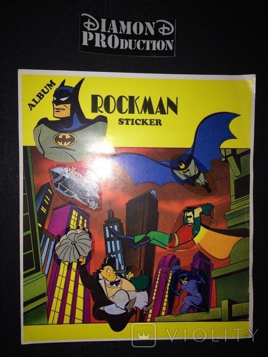 Не чистий повний альбом Бетмен / Rockman / Batman № 7 з наклейками Nacar, фото №3