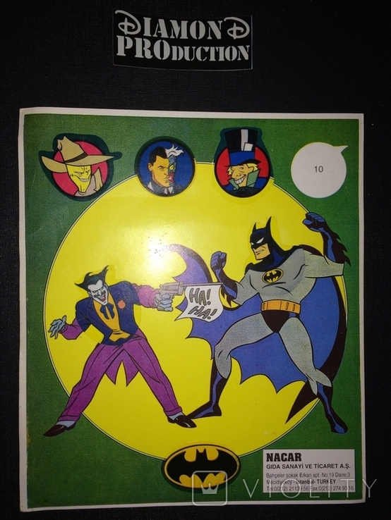 Не чистий повний альбом Бетмен / Rockman / Batman № 7 з наклейками Nacar, фото №2
