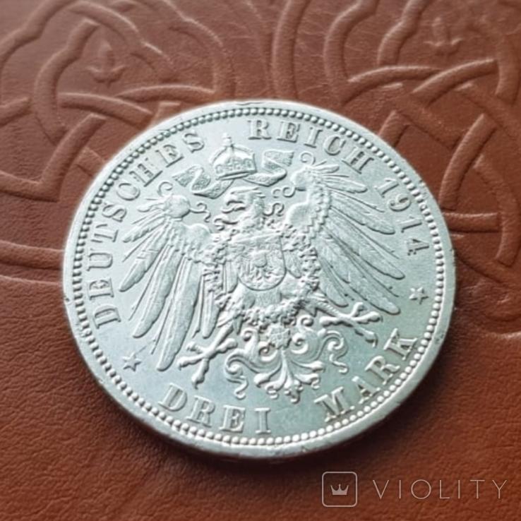 3 марки 1914 Пруссия мундир, фото №7
