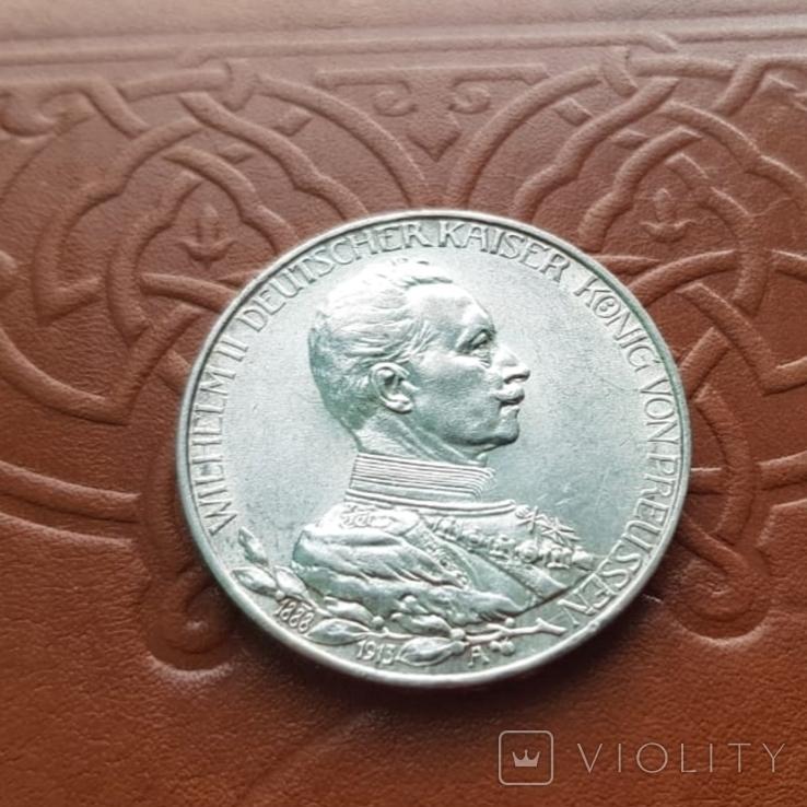 3 марки 1913 Пруссія Пруссия, фото №2