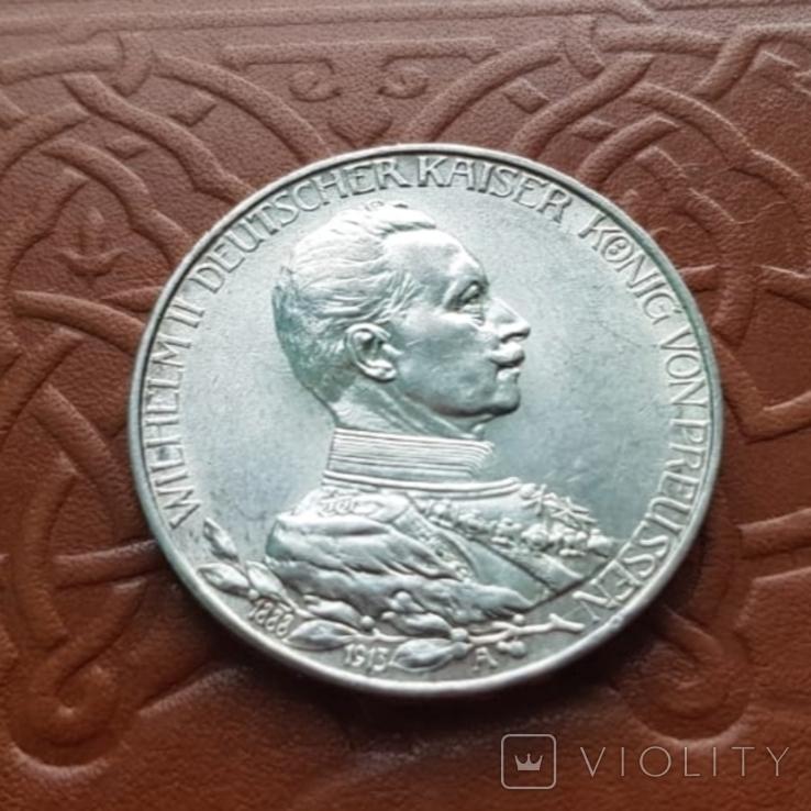 3 марки 1913 Пруссія Пруссия, фото №5