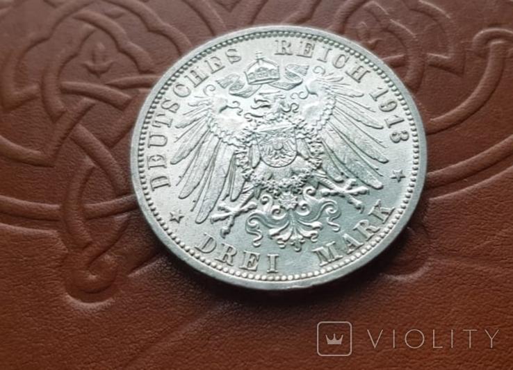 3 марки 1913 Пруссія Пруссия, фото №8