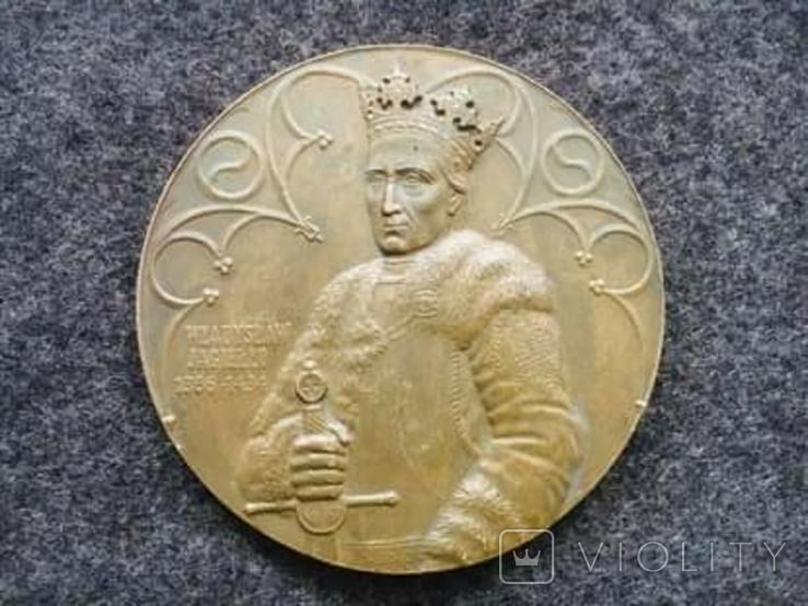 Настольная медаль Владислав Ягайло 1386-1434, Грюнвальд 1410г., фото №2