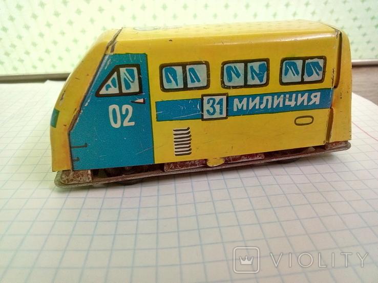 Игрушка, машинка жестяная, милиция , СССР, фото №3