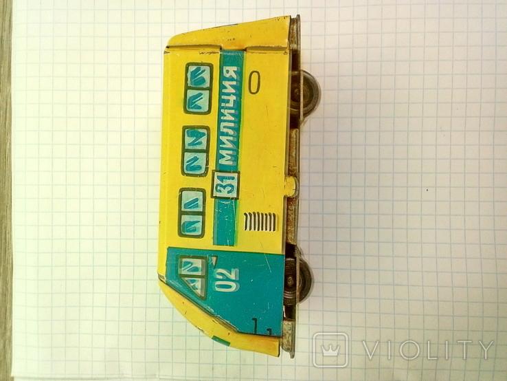 Игрушка, машинка жестяная, милиция , СССР, фото №8