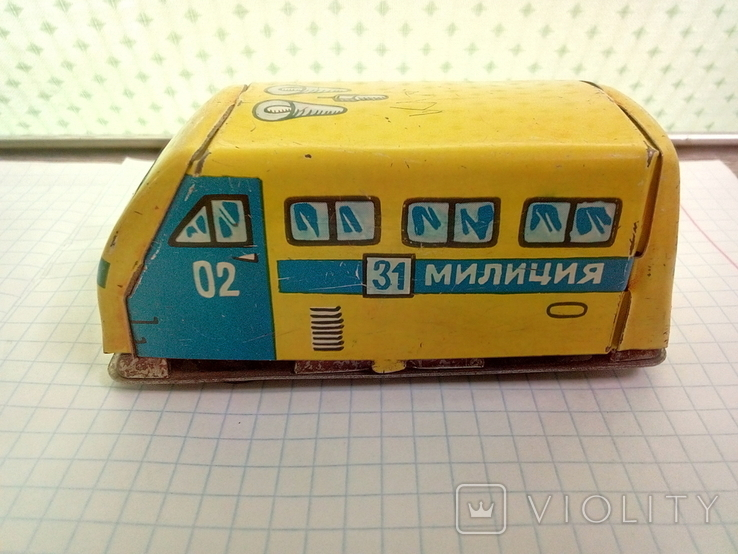 Игрушка, машинка жестяная, милиция , СССР, фото №10