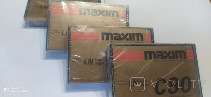 """Аудио касеты """"maxim c 90, """" 4 шт, чистые., фото №3"""