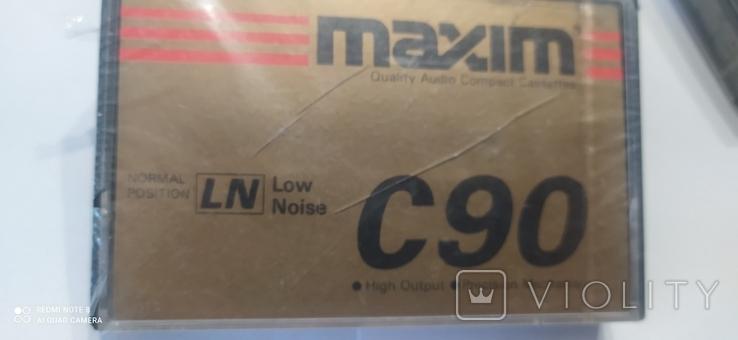 """Аудио касеты """"maxim c 90, """" 4 шт, чистые., фото №6"""