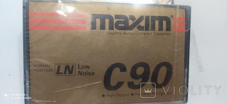 """Аудио касеты """"maxim c 90, """" 4 шт, чистые., фото №9"""