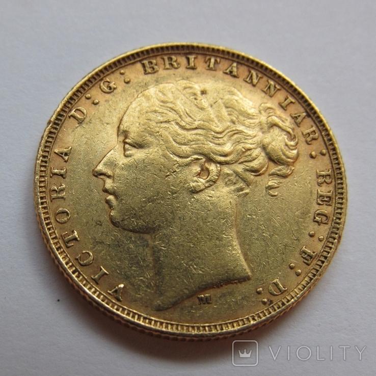 1 фунт (соверен) 1879 г. Австралия, фото №4