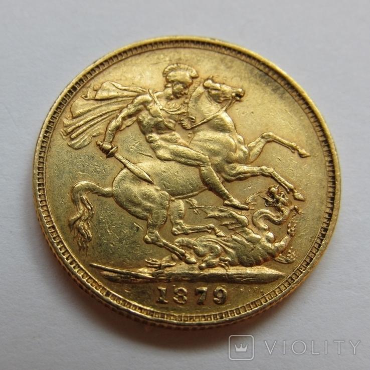 1 фунт (соверен) 1879 г. Австралия, фото №5