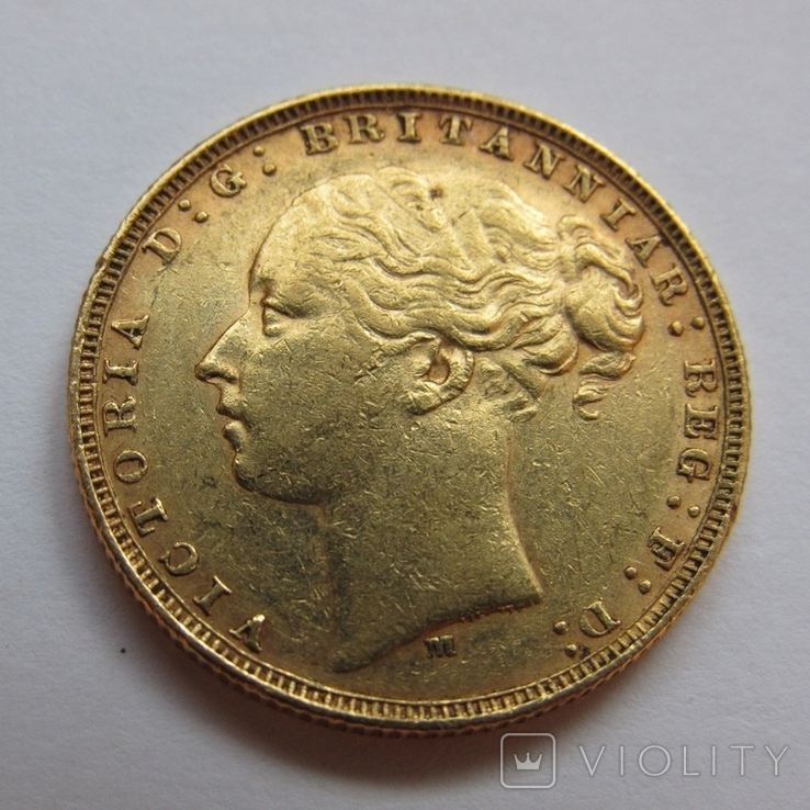 1 фунт (соверен) 1879 г. Австралия, фото №6