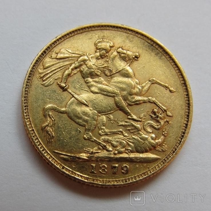 1 фунт (соверен) 1879 г. Австралия, фото №7