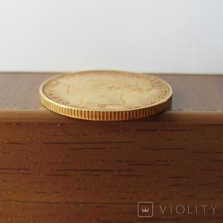 1 фунт (соверен) 1879 г. Австралия, фото №10