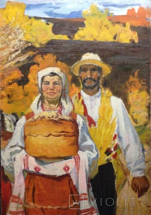 Соцреализм С Хлебом-Солью 1974 г., Беспалов Иван Николаевич (1908-1988), фото №3