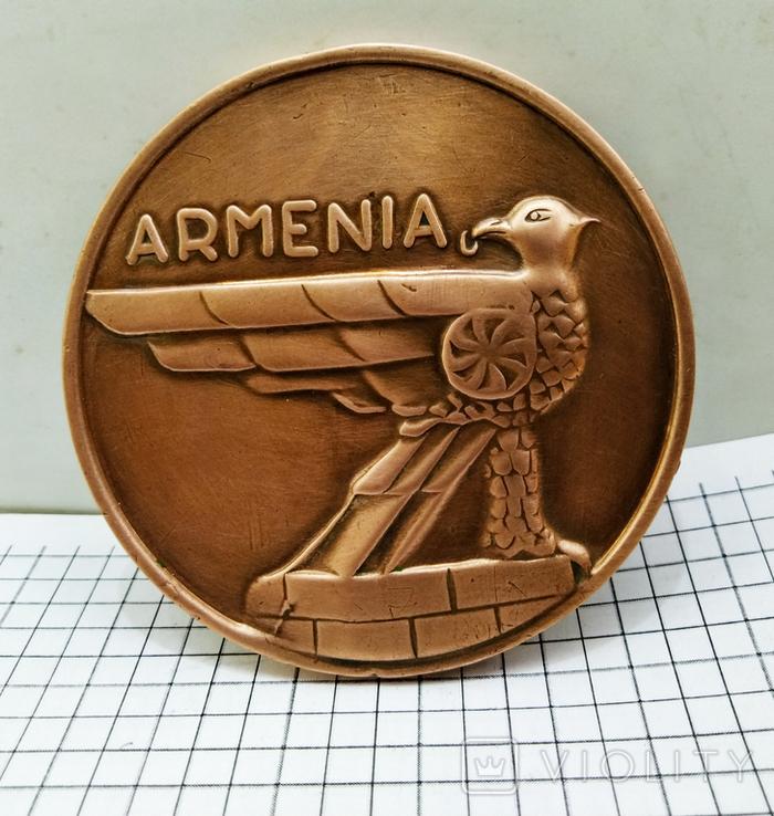 Настольная медаль. 25 лет Ереванскому электроаппаратному заводу, фото №2