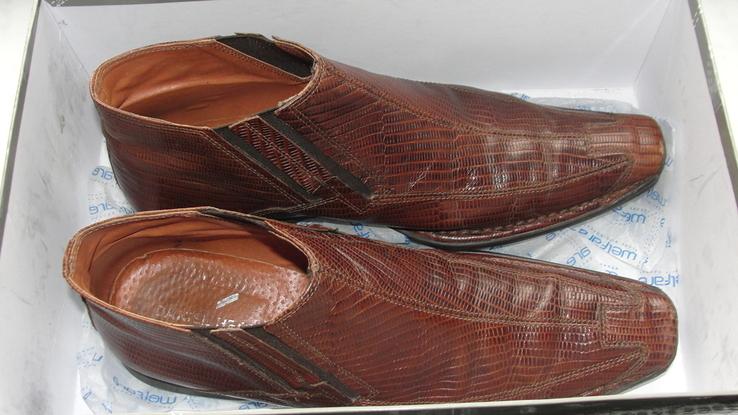 Мужские полуботинки из натуральной кожи, фото №3