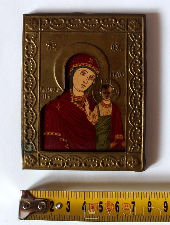 Богородица Казанская (7,8 см х 10 см) под реставрацию, фото №2