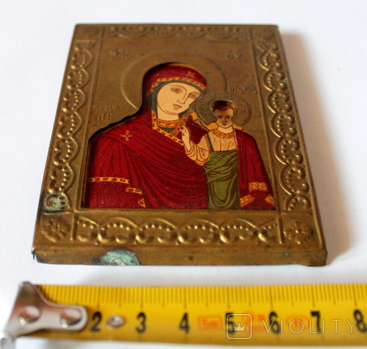 Богородица Казанская (7,8 см х 10 см) под реставрацию, фото №3