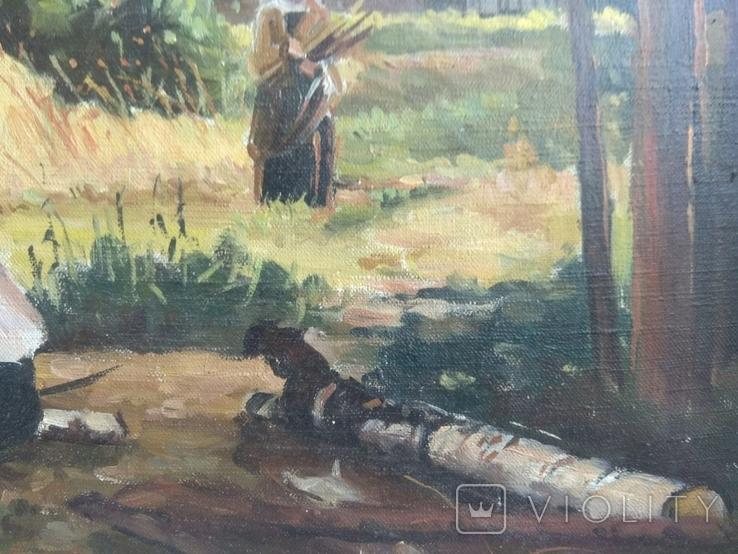Картина Сельская жизнь 1960 годов . Копия, фото №6
