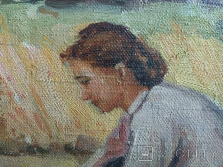 Картина Сельская жизнь 1960 годов . Копия, фото №7