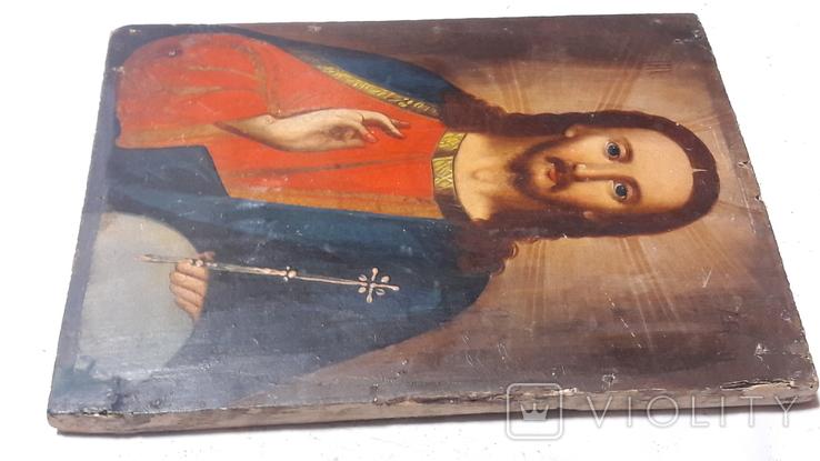Икона Иисуса Хреста. ( дерево)3, фото №8