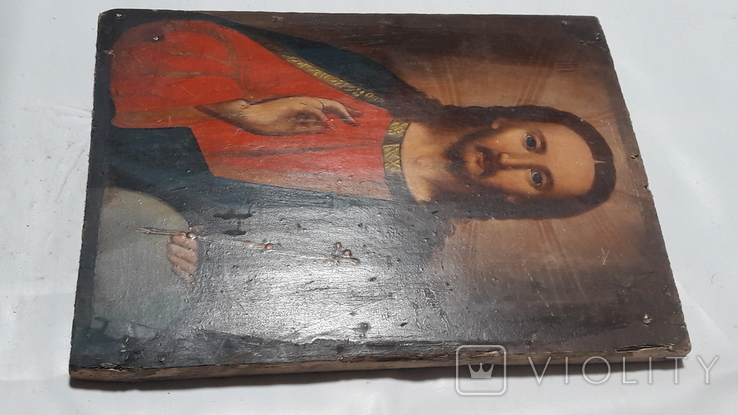 Икона Иисуса Хреста. ( дерево)3, фото №11