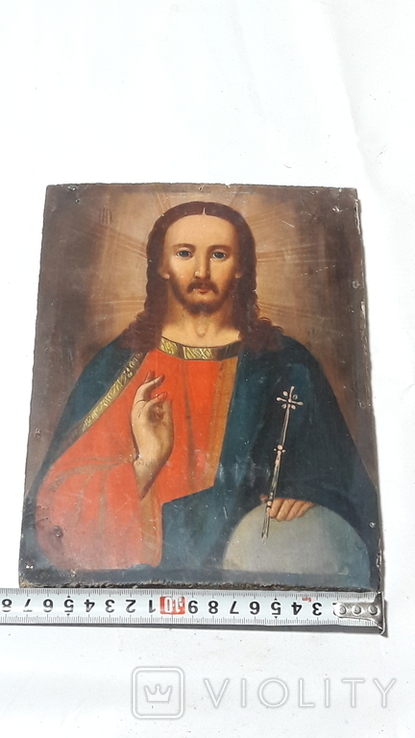 Икона Иисуса Хреста. ( дерево)3, фото №13