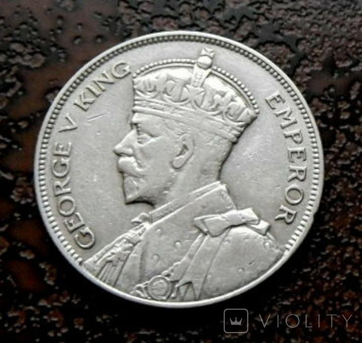 1/2 кроны Новая Зеландия 1933 серебро, фото №2