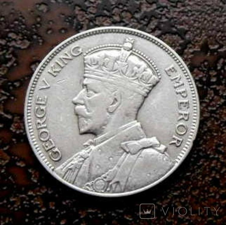 1/2 кроны Новая Зеландия 1933 серебро, фото №4