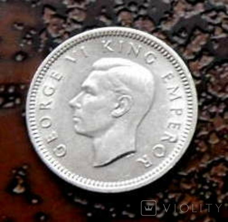 3 пенса Новая Зеландия 1944 состояние серебро, фото №4