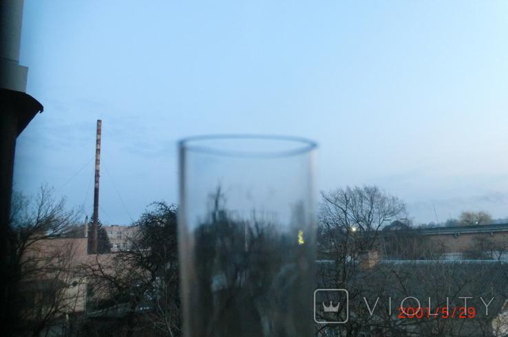Старая стеклянная керосиновая лампа, фото №6