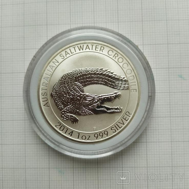 1 доллар 2014г Австралия 1 унция, фото №2