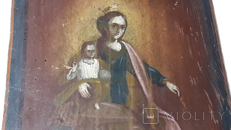 Икона Божьей Матери с Иисусом.( сюжетная), фото №6