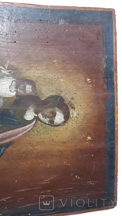 Икона Божьей Матери с Иисусом.( сюжетная), фото №7