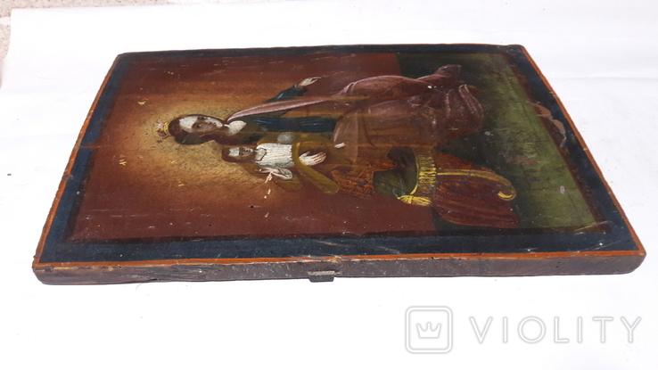 Икона Божьей Матери с Иисусом.( сюжетная), фото №9