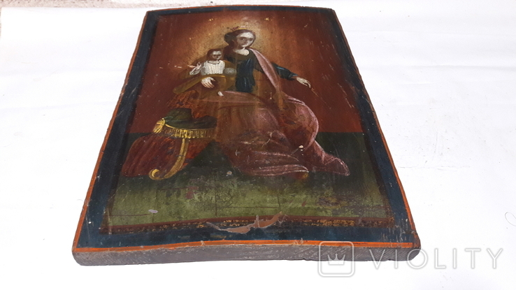 Икона Божьей Матери с Иисусом.( сюжетная), фото №10