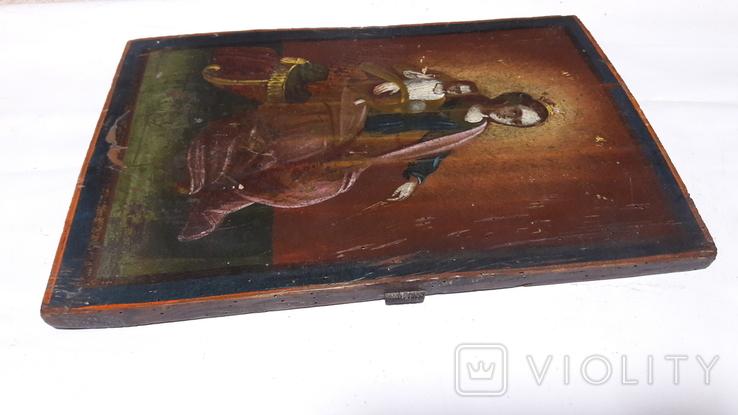 Икона Божьей Матери с Иисусом.( сюжетная), фото №11